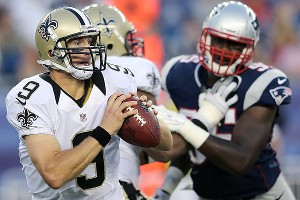 Drew Brees and Chandler Jones
