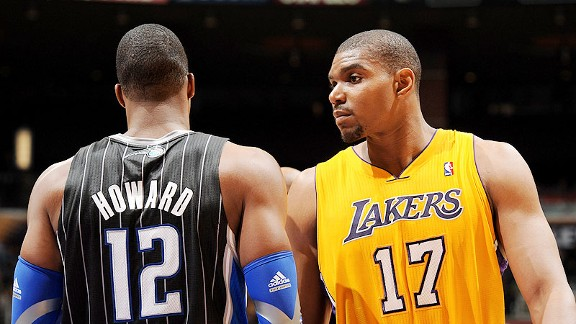Dwight Howard and Andrew Bynum