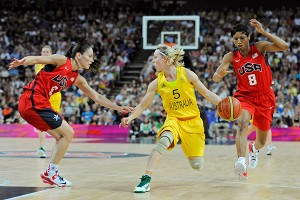 Sue Bird, left, scored 13 points on 5-of-6 shooting and had four rebounds, two assists and no turnovers.