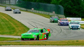 Danica Patrick finished 12th at Road America but was in the top 5 most of the race and briefly held the lead.