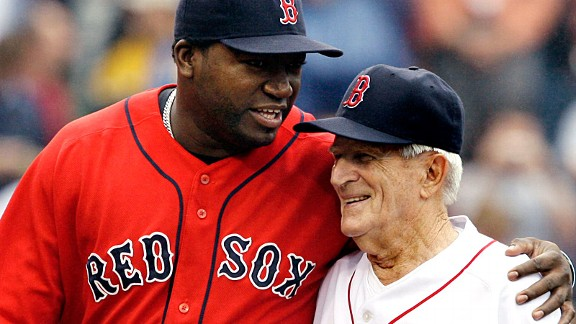 Johnny Pesky and David Ortiz