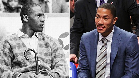 Michael Jordan and Derrick Rose
