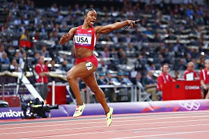 Carmelita Jeter anchored the 4x100-meter relay team that smashed a 27-year-old world record and earned one of the 58 medals the U.S. women brought home.