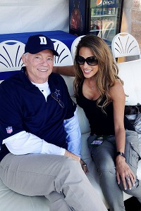 Bonnie-Jill Laflin and Jerry Jones