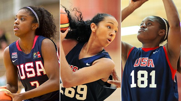 Mercedes Russell, Kaela Davis and Diamond DeShields