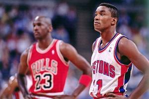 Isaiah Thomas and Michael Jordan