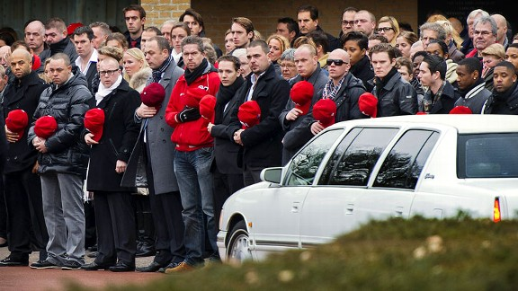 Greg Halman funeral
