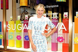 Maria Sharapova, appearing Monday in New York, said the development of her new candy company, from concept to launch, has taken 18 months.