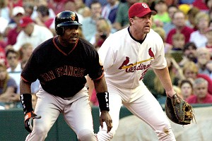 Barry Bonds and Mark McGwire