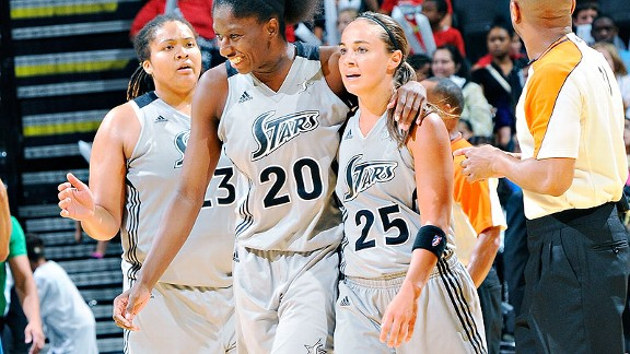 Shameka Christon and Becky Hammon