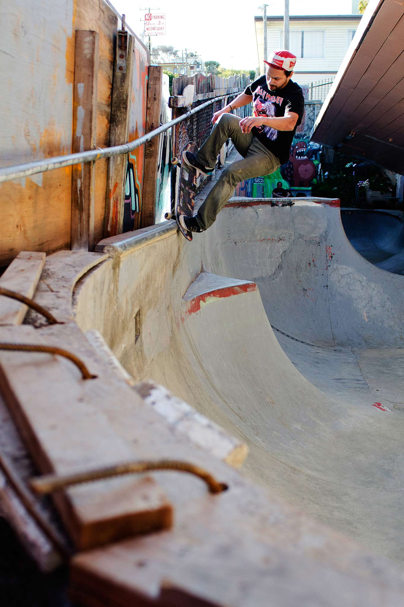 Adrian Mallory, frontside nose grind
