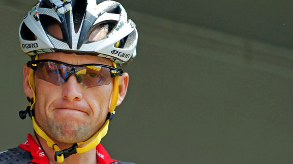 Lance Armstrong at the 2010 Tour de France
