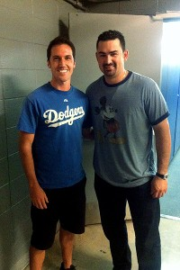 Adrian Gonzalez and fan