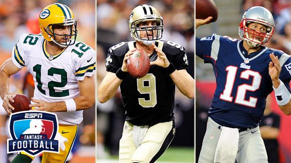 Aaron Rodgers, Drew Brees, Tom Brady