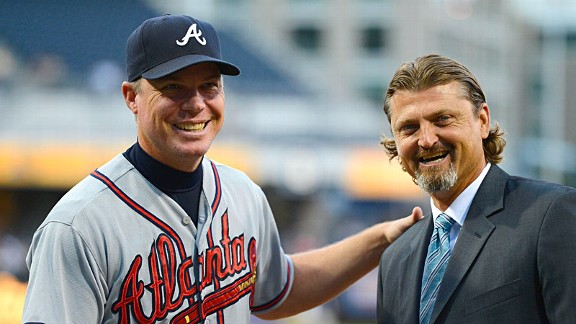 Chipper Jones and Trevor Hoffman