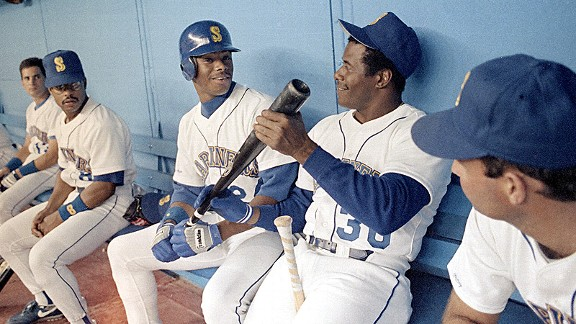 Ken Griffey Jr. and Ken Griffey Sr.