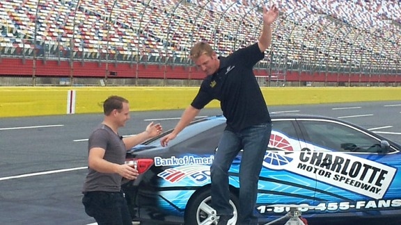 Nik Wallenda and Clint Bowyer