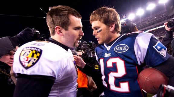 Joe Flacco, Tom Brady