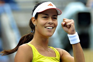 Ana Ivanovic made it to a Grand Slam quarterfinal for the first time since winning the French Open in 2008.