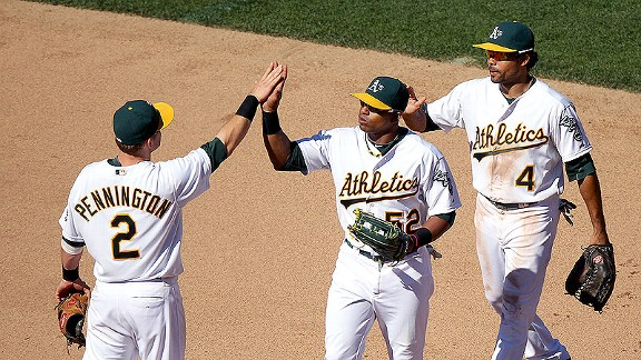 Oakland Athletics celebrate