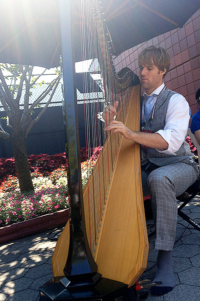 Harp player at US Open