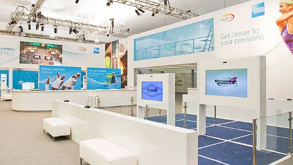 american express-sponsored center at the US Open