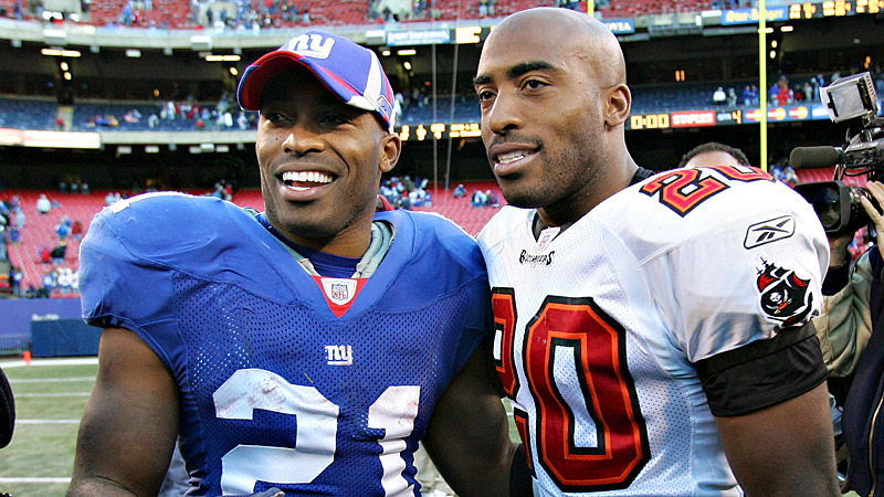 Tiki and Ronde Barber in NFL jerseys