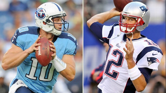 Jake Locker y Tom Brady