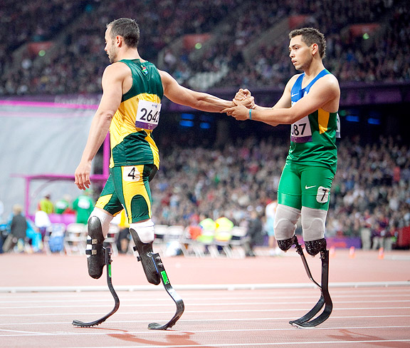 Oscar Pistorius and Alan Oliveira