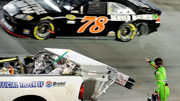 Danica Patrick was none too pleased when she was wrecked during the Sprint Cup race at Bristol, prompting her to say, Who's playing fair and who's not?''