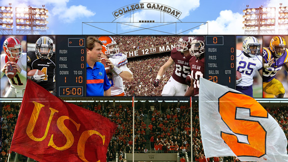 college gameday scores college teams