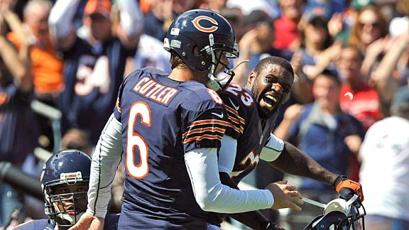 Jay Cutler and Devin Hester