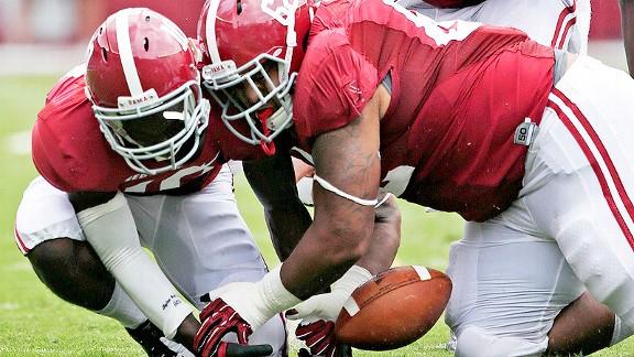 Alabama fumble recovery