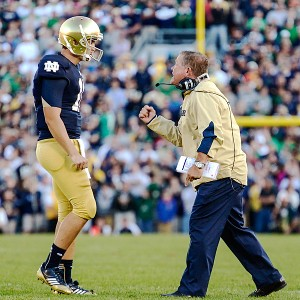 Tommy Rees and Brian Kelly