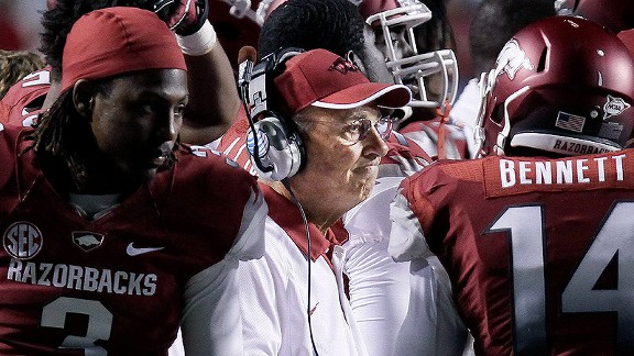 Arkansas coach John L. Smith after a loss to Louisiana-Monroe