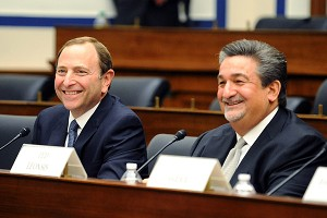 Gary Bettman and Ted Leonsis