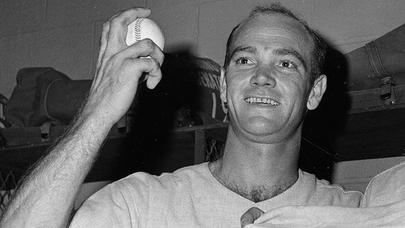Tom Cheney after his 21-strikeout game in 1962