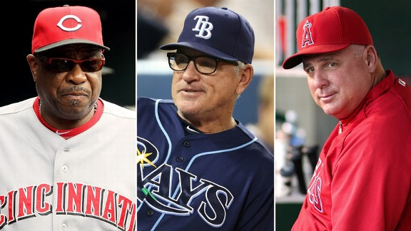 Dusty Baker, Joe Maddon, Mike Scioscia