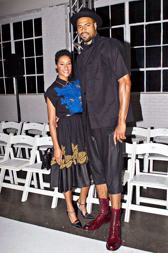 Tyson Chandler at Fashion Week