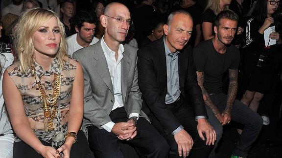 Adam Silver at Fashion Week