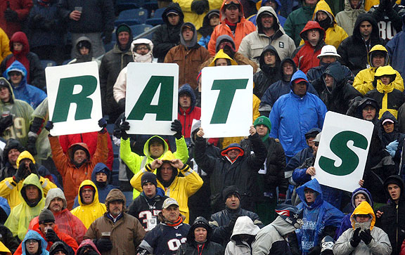 Patriots fans mock the New York Jets