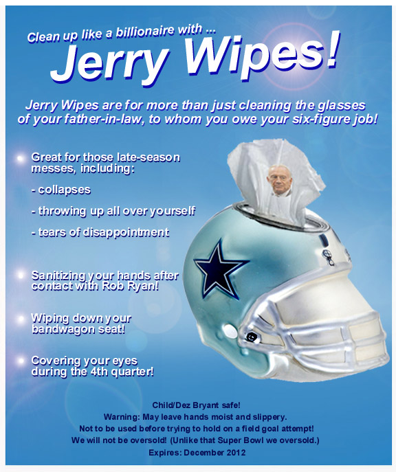 Jerry Wipes advertisment