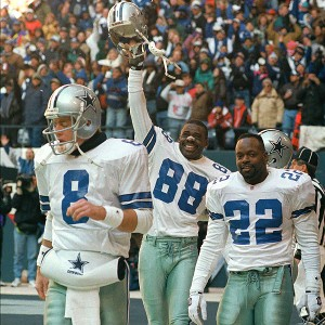 Troy Aikman, Emmitt Smith and Michael Irvin