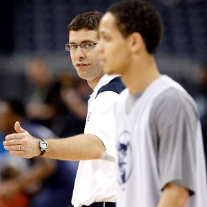 Brad Stevens and Chrishawn Hopkins 