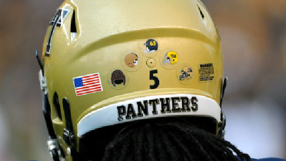 University of Pittsburgh helmet stickers