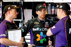 Denny Hamlin and Darian Grubb