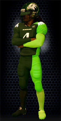 The new uniforms at Atlantic High School in Delray Beach, Fla.