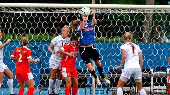 Like Hope Solo, Florida sophomore Taylor Burke shows that the best athlete on the soccer field can be the goalkeeper.