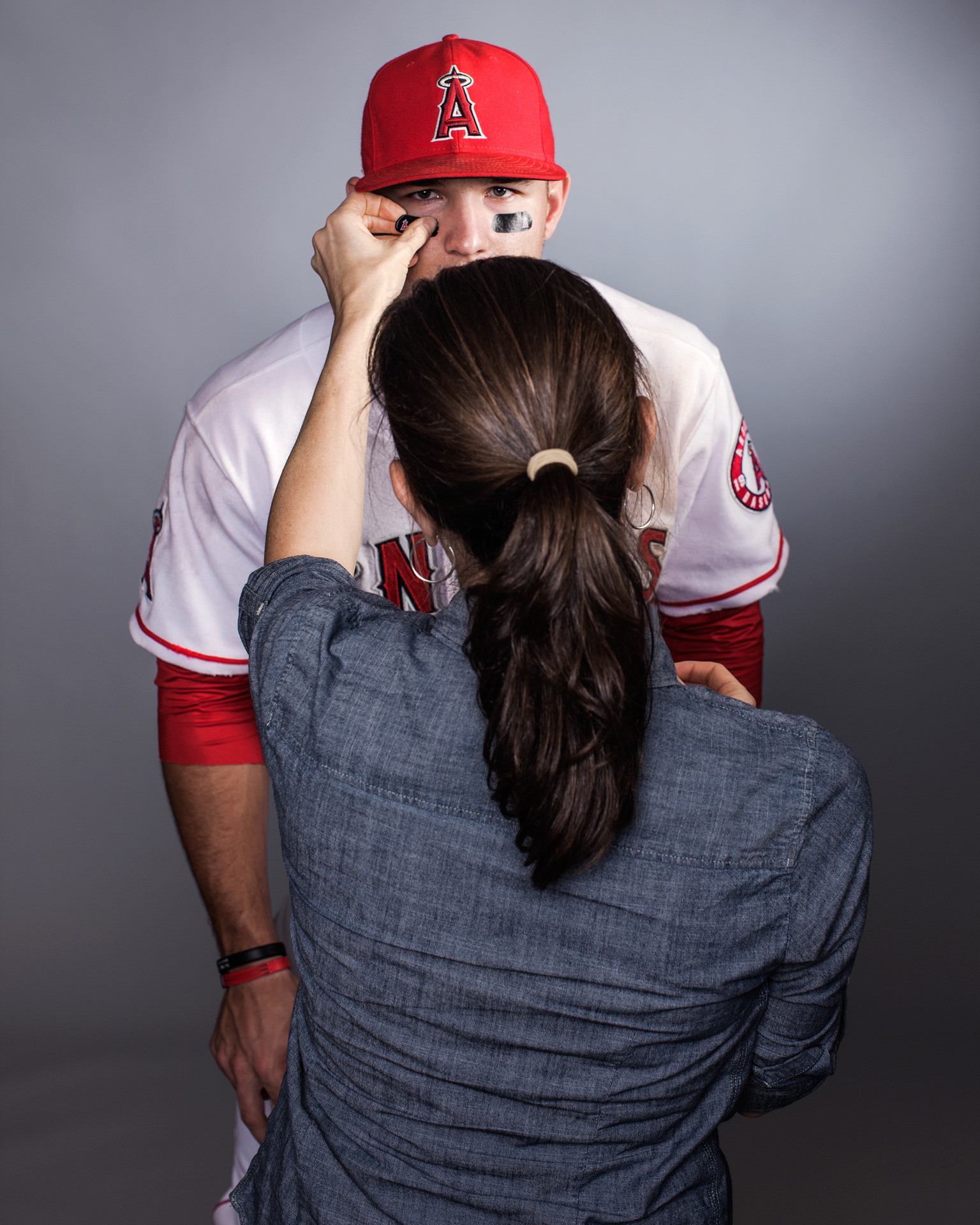 Karen Frank and Mike Trout