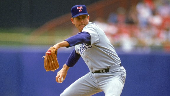 Nolan Ryan during his stint with the Texas Rangers